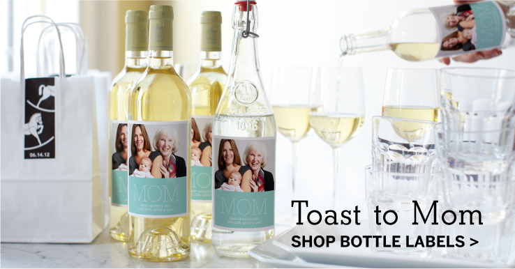Toast to Mom, Shop Bottle Labels