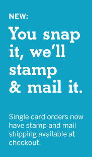 Send Single Card with a Stamp