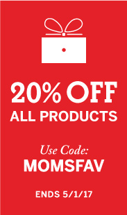 20% Off All Products, Use Code: MOMSFAV