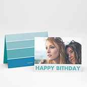 Birthday Card Ombre Folded