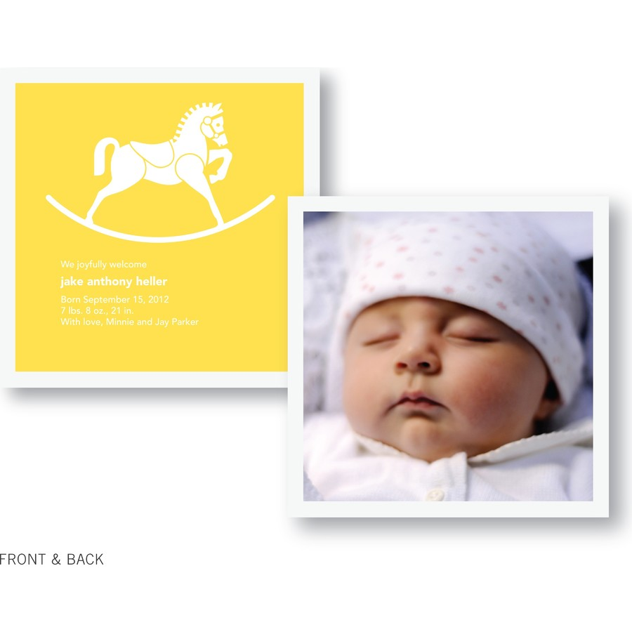 Rocking Horse Birth Announcement