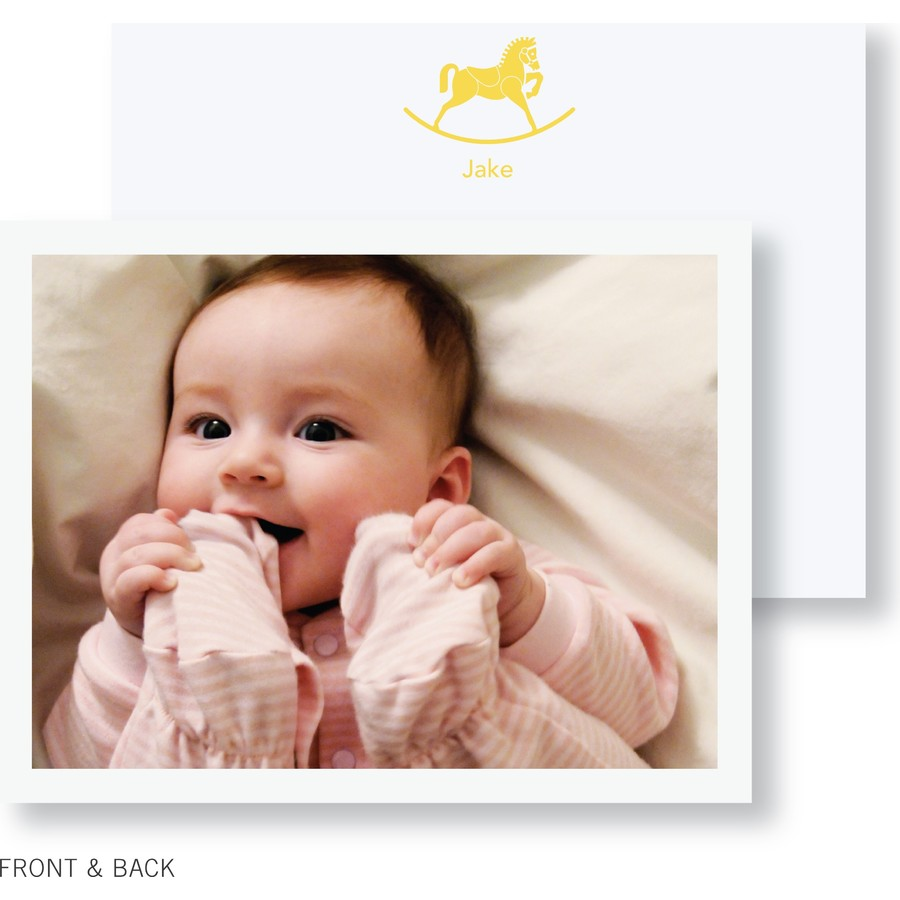 Rocking Horse Photo Thank You Card