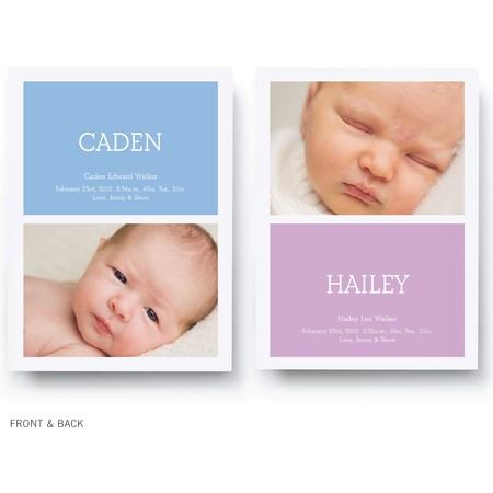 Boy And Girl Twin Birth Announcement