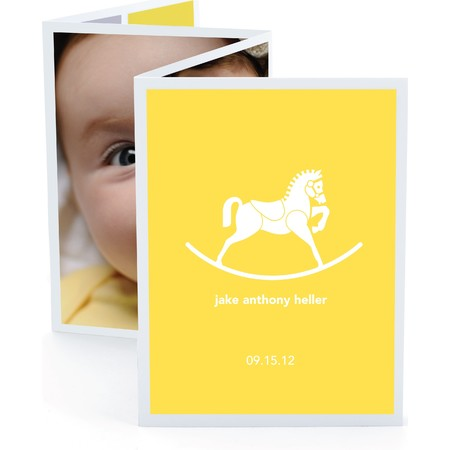 Rocking Horse Accordion Birth Announcement