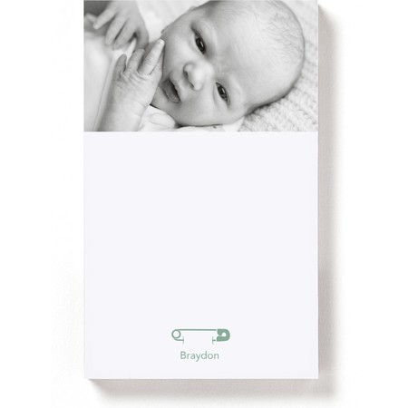 Magnetic Notepad with Diaper Pins