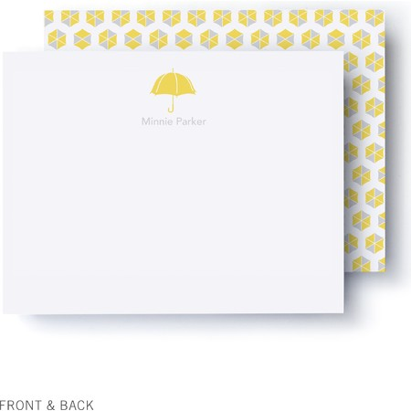 Sunny Umbrellas Thank You Card