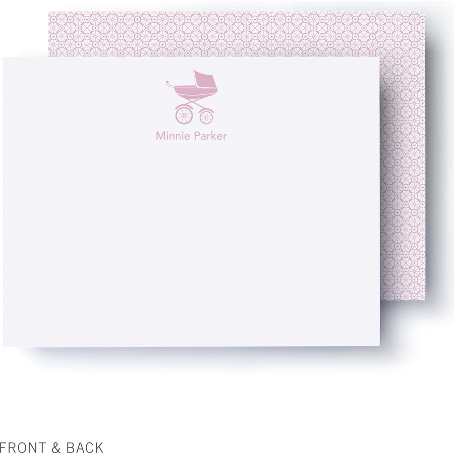 Pink Pram Thank You Card