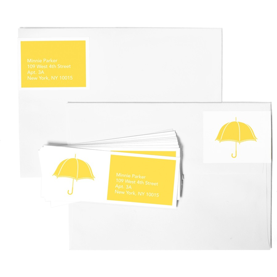 Sunny Umbrellas Address Labels