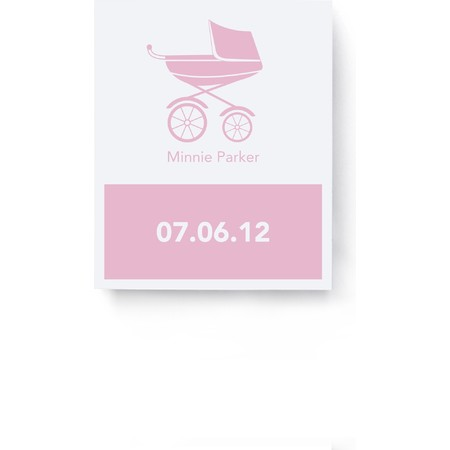 Pink Pram Goodie Labels & Bags