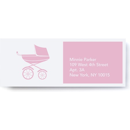 Pink Pram Address Labels