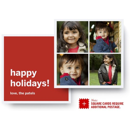 Square Instagram Holiday Photo Card