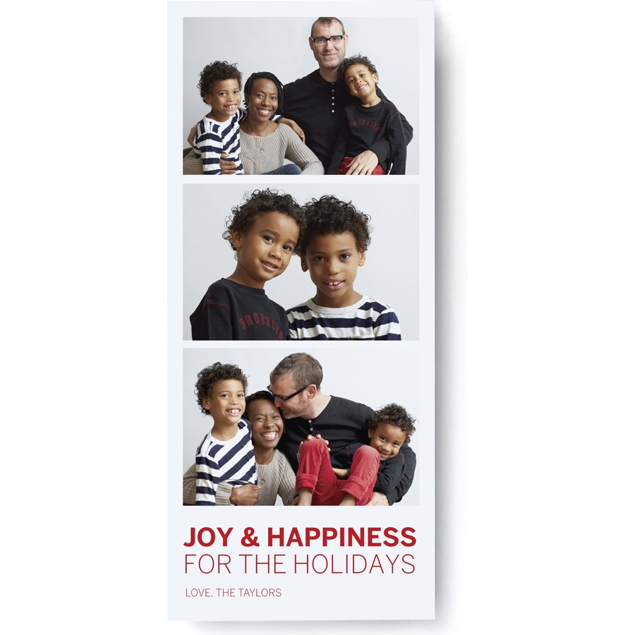 Photo Booth Holiday Card