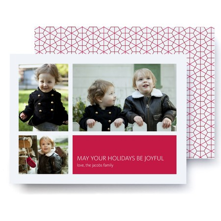 Honeycomb Red Holiday Card – Ultrathick