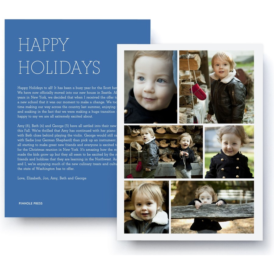 Holiday Letter Collage Card – Ultrathick