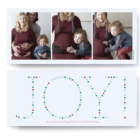Joy! Marquee Holiday Photo Card – Ultrathick