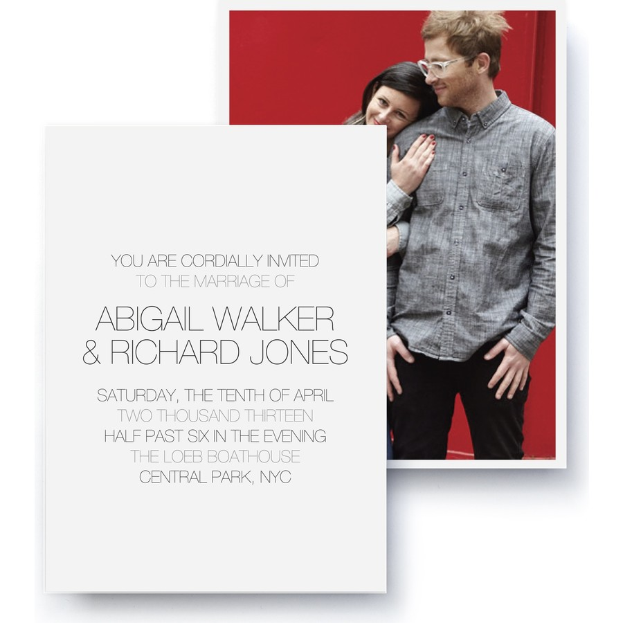 Gallery Wedding Invitation