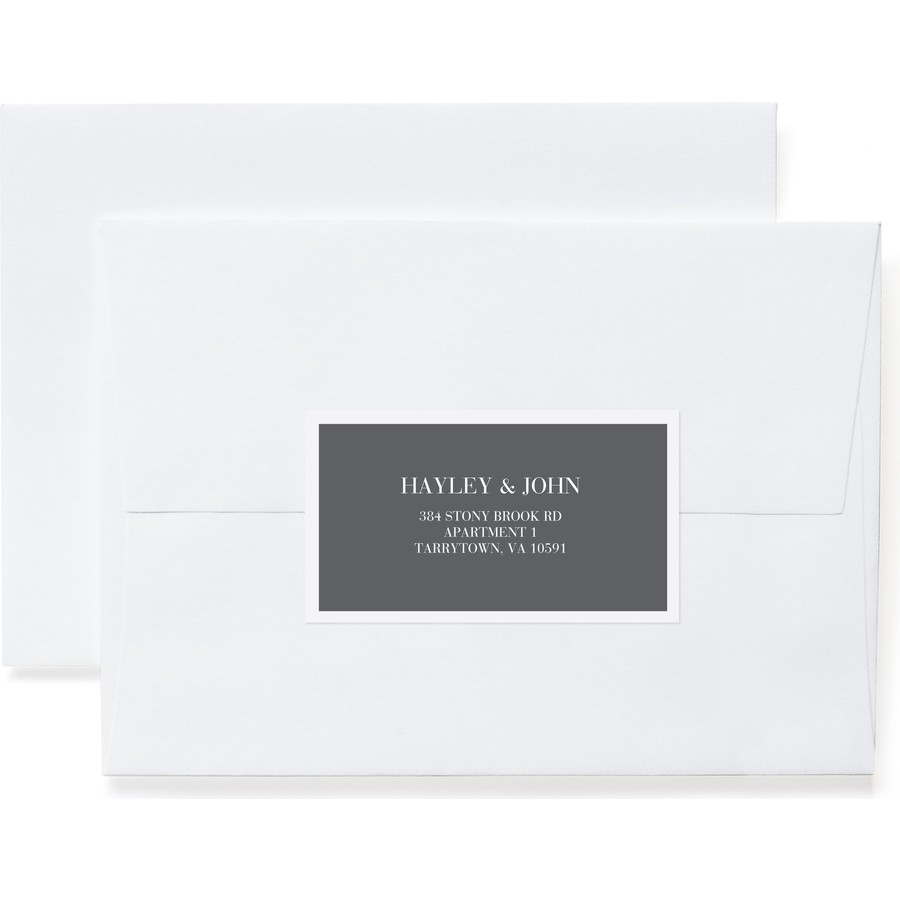 Sophisticate Return Address Label