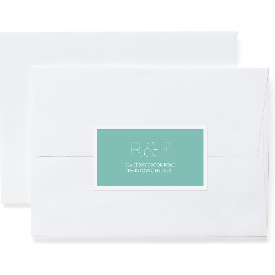 Marquee Monogram Return Address Label