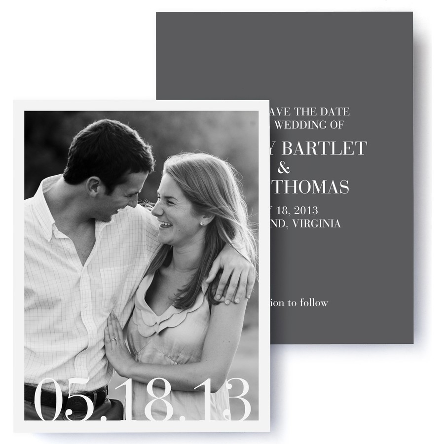 Sophisticate Photo Save The Date Cards