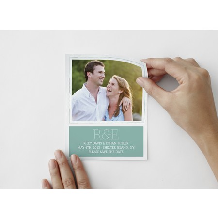 Marquee Save The Date Photo Decal