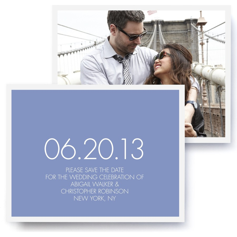 Modern Photo Save The Date Cards