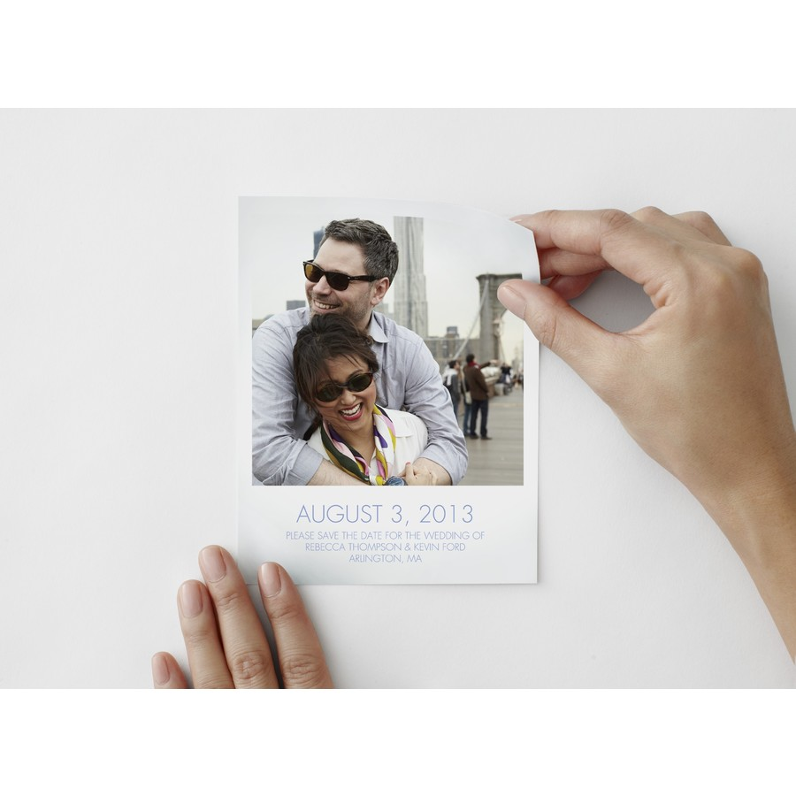 Modern Save The Date Photo Decal