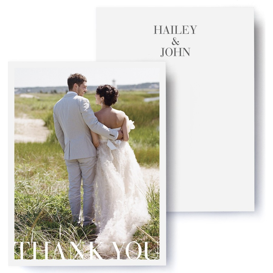 Sophisticate Wedding Photo Thank You Cards