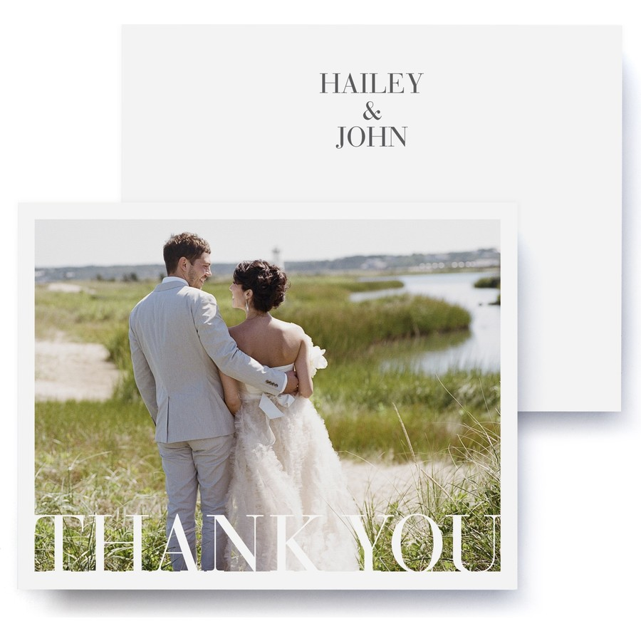Sophisticate Wedding Thank You Cards