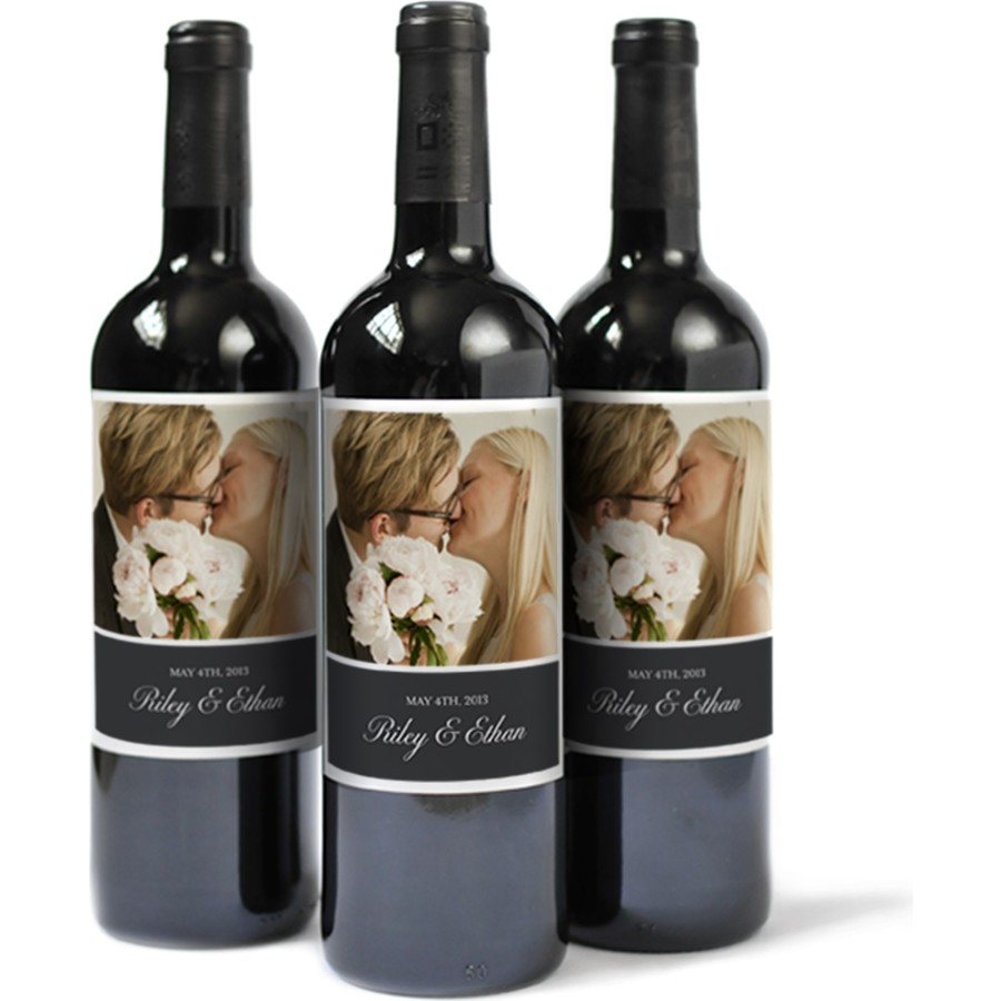 Custom Photo Wine Labels for Weddings