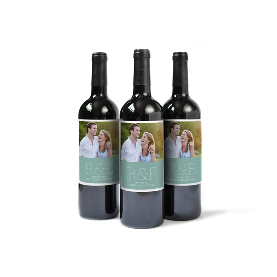 Custom Wine Label with Monogram
