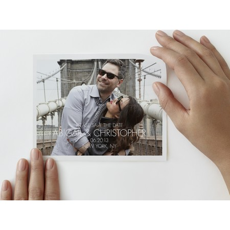 Save The Date Photo Decal