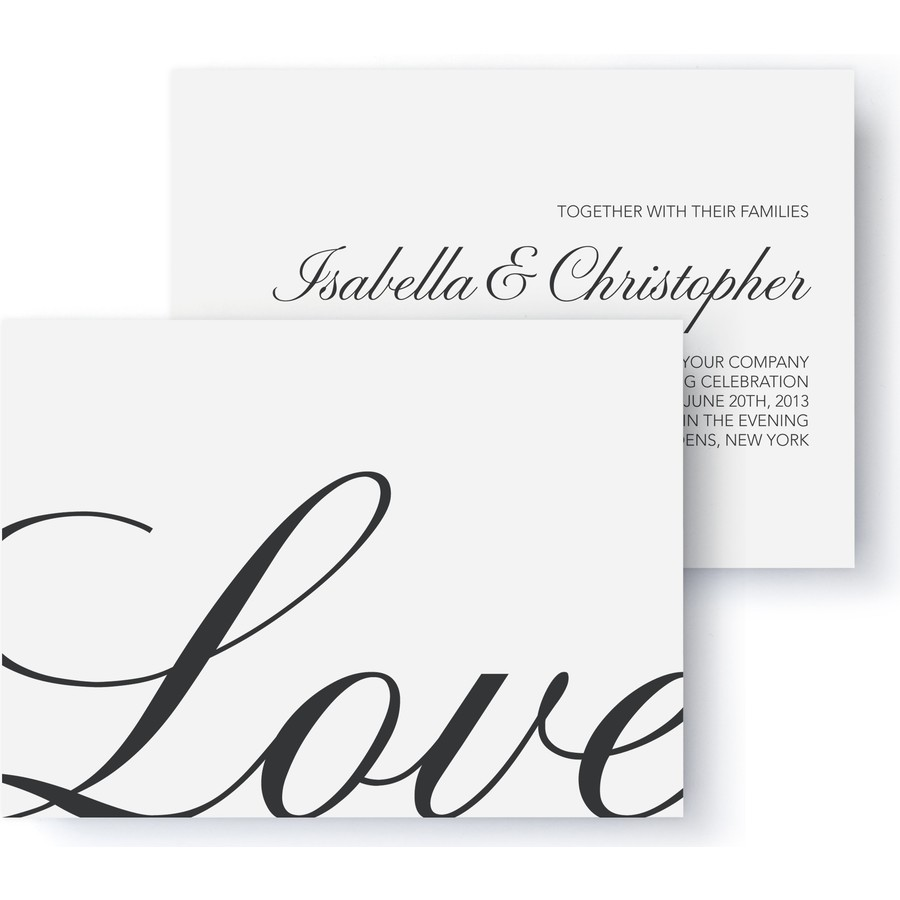 Calligraphic Wedding Photo Invitation