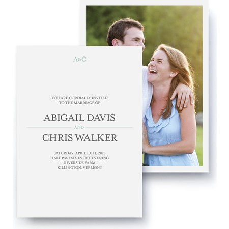 Coastal Photo Wedding Invitation