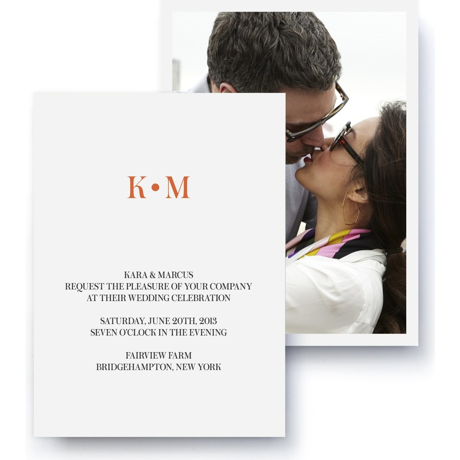 Modern Deco Wedding Invitation