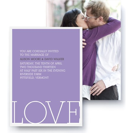 Love Letters Wedding Invitation