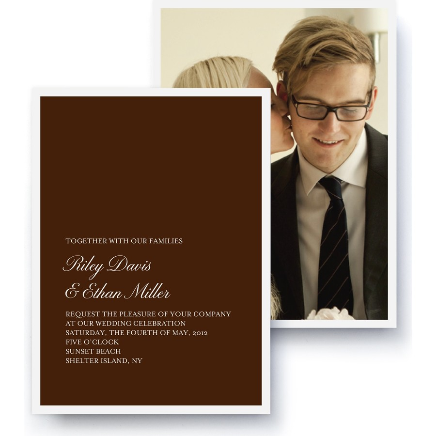 Tailored Script Wedding Invitation