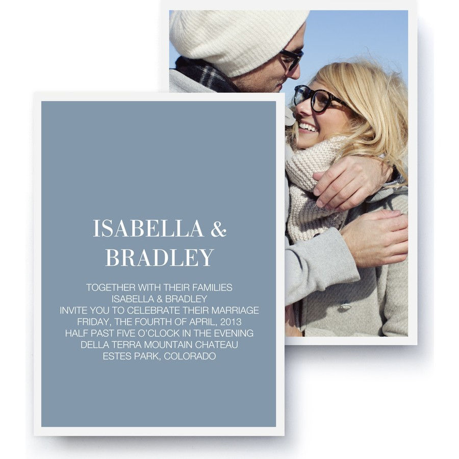 Timeless Wedding Photo Invitation