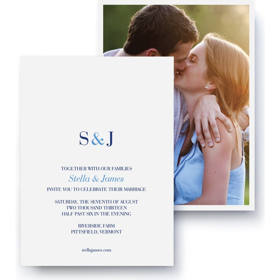 Classic Monogram Wedding Invitation