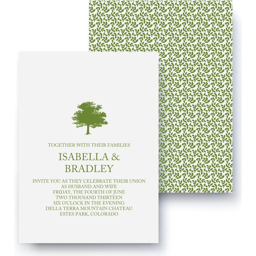 Arbor Wedding Invitation