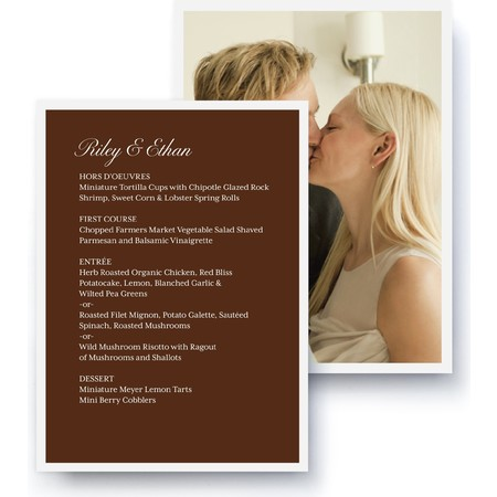 Tailored Script A La Carte Card