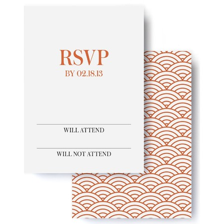 Modern Deco Wedding RSVP