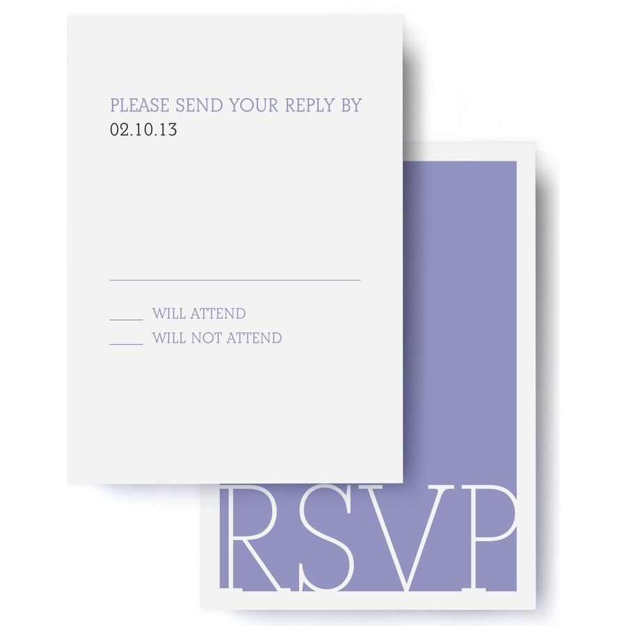 Love Letters Wedding RSVP