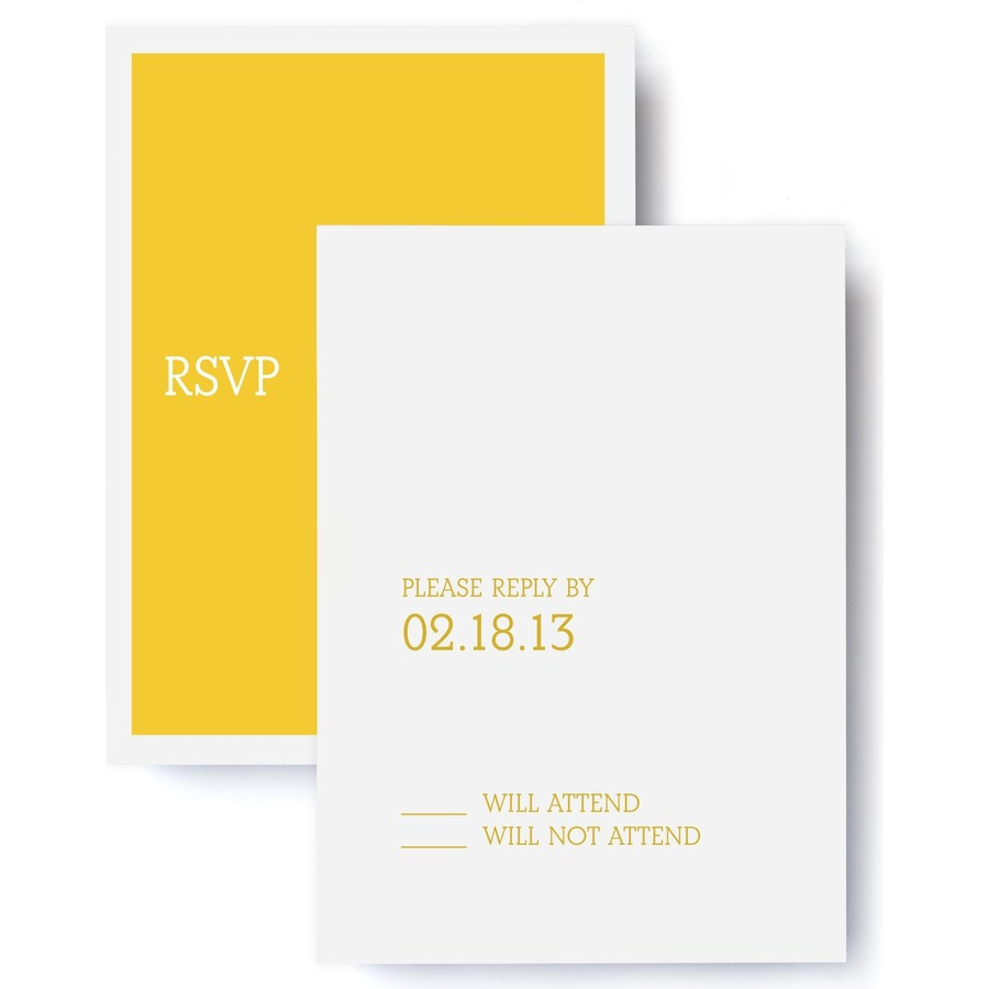 Tailored Wedding RSVP