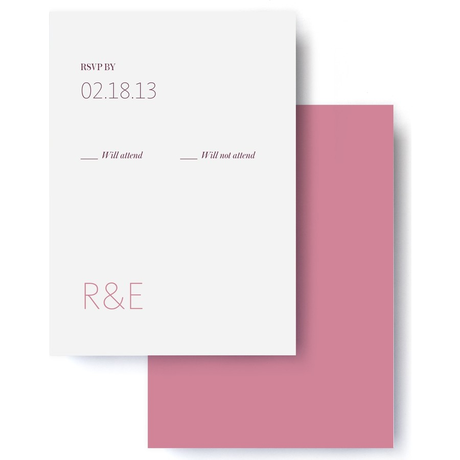 Modern Monogram Wedding RSVP