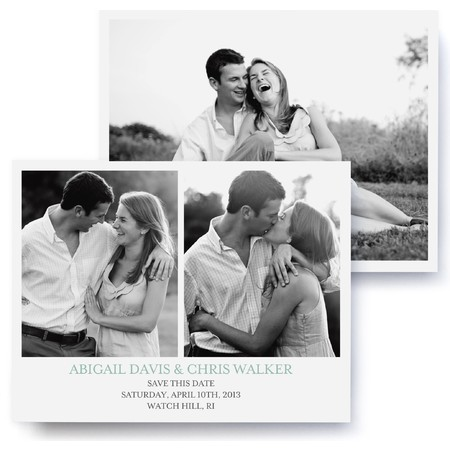 Three Photo Save The Date Cards