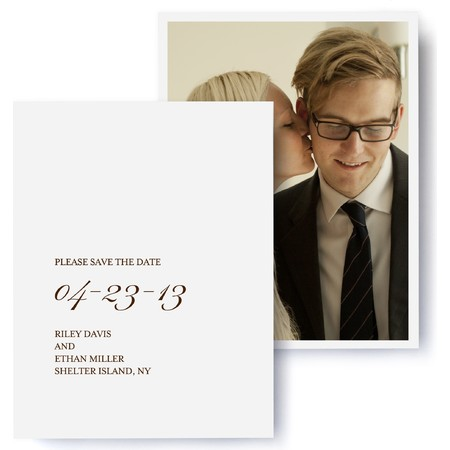 Tailored Script Photo Save The Date Cards