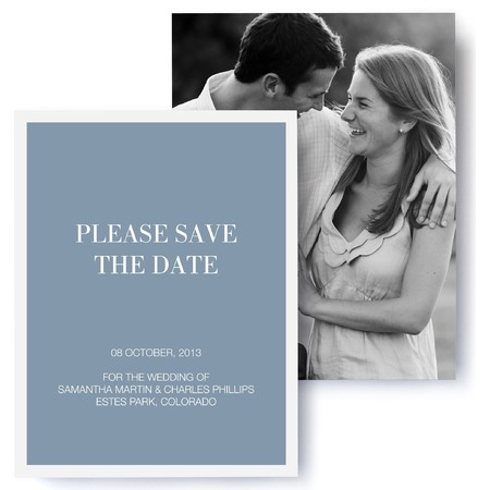 Timeless Photo Save The Date Cards