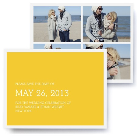 Tailored Collage Photo Save The Date Cards