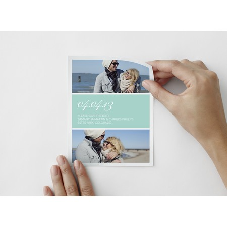 Fête Save The Date Photo Decal