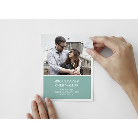 Coastal Save The Date Photo Decal